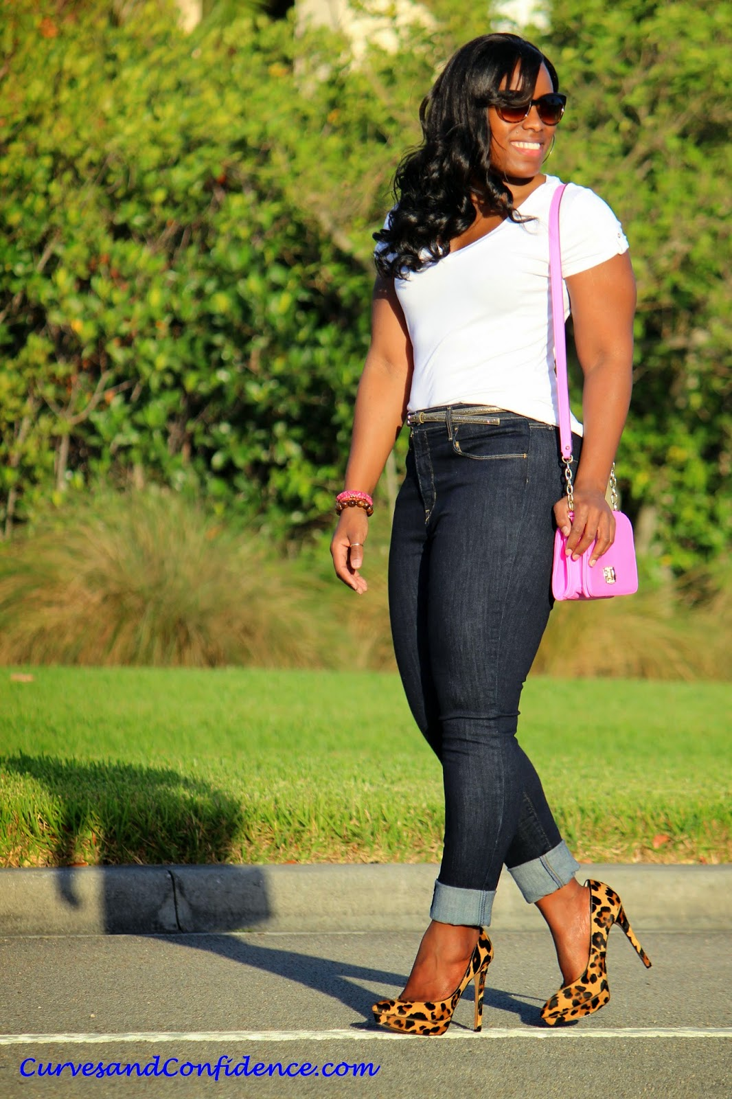 Weekend Wear High Waist Jeans Curves And Confidence